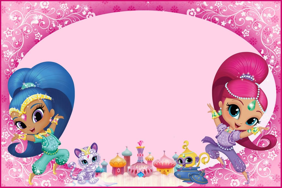 Shimmer And Shine Party Free Printable Invitations Oh My Fiesta In English