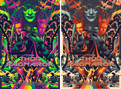 Thor Ragnarok Movie Poster Screen Print by Matt Taylor x Mondo