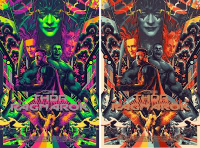 Thor Ragnarok Movie Poster Screen Print by Matt Taylor x Mondo