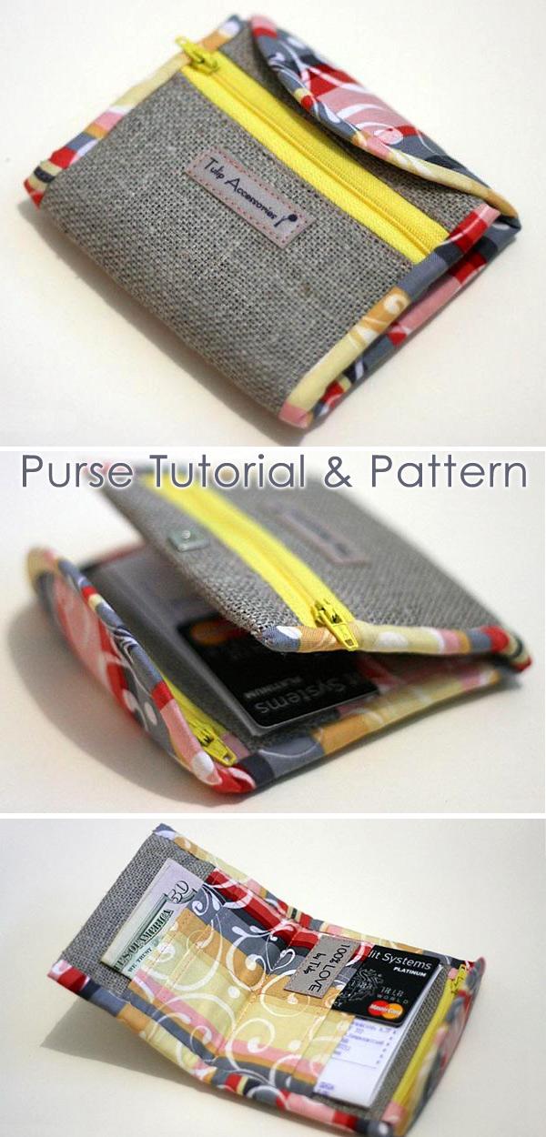 Purse Bag Tutorial Sewing Pattern