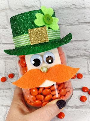 Mason Jar Leprauchan St Patrick's Day DIY, Heidi pick!