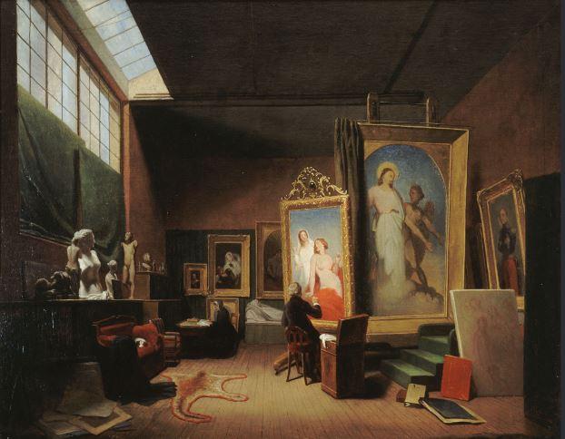 Lamme, Atelier de l'artiste Ary Scheffer, rue Chaptal, 1851