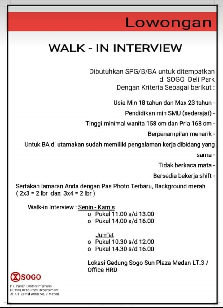 Info Loker Medan Hari Ini : loker, medan, Lowongan, Kerja, SMA/SMK, Medan, Oktober, Terbaru, Tahun
