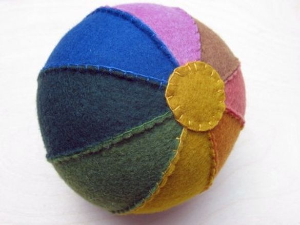 Felt Ball Sewing Tutorial and Pattern