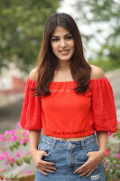 Rhea Chakraborty in Red Crop Top and Denim Shorts Spicy Pics ~  Exclusive 243.JPG