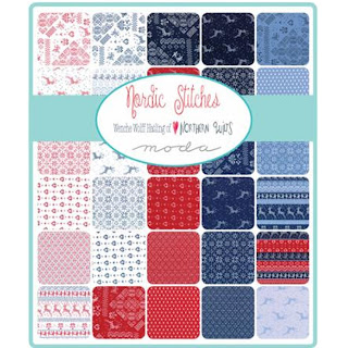 Moda Nordic Stitches Fabric by Wenche Wolff Hatling for Moda Fabrics