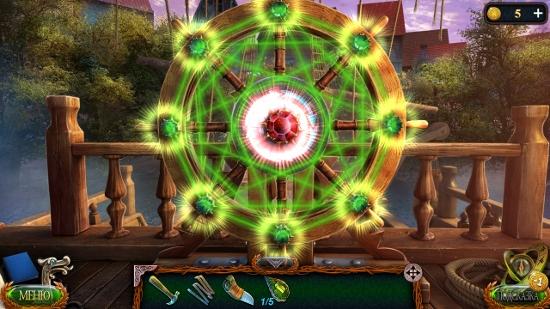 горящие линии зеленого цвета на штурвале в игре затерянные земли 4 скиталец
