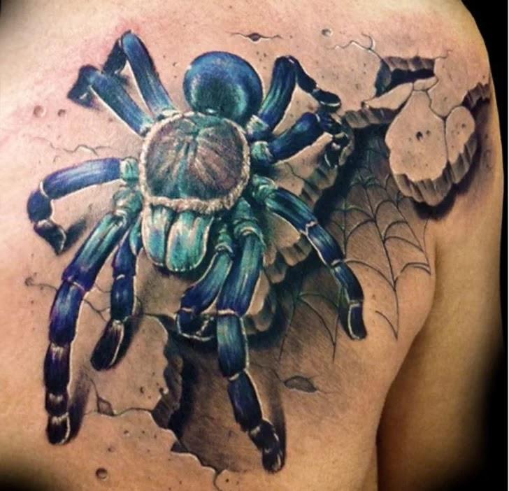 Tatuaje-Tarántula-Azul