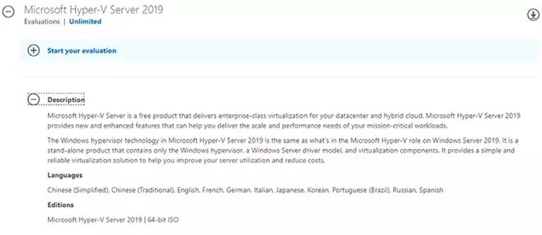 Microsoft Hyper-V Server Gratis Untuk Unlimited Evaluation