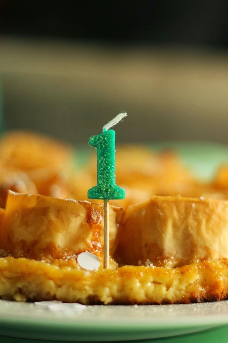 Ruffle milk pie y ... ¡¡¡1er cumpleaños!!!