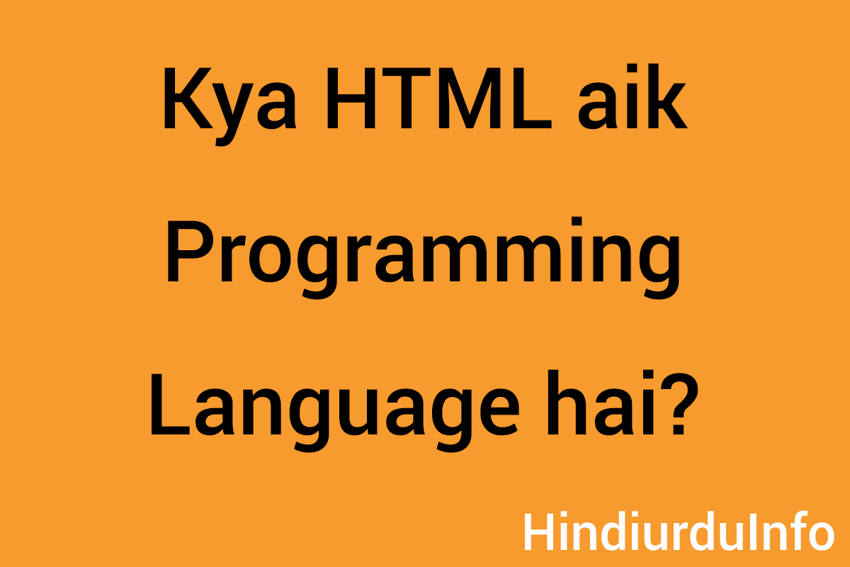 is-html-a-programming-language