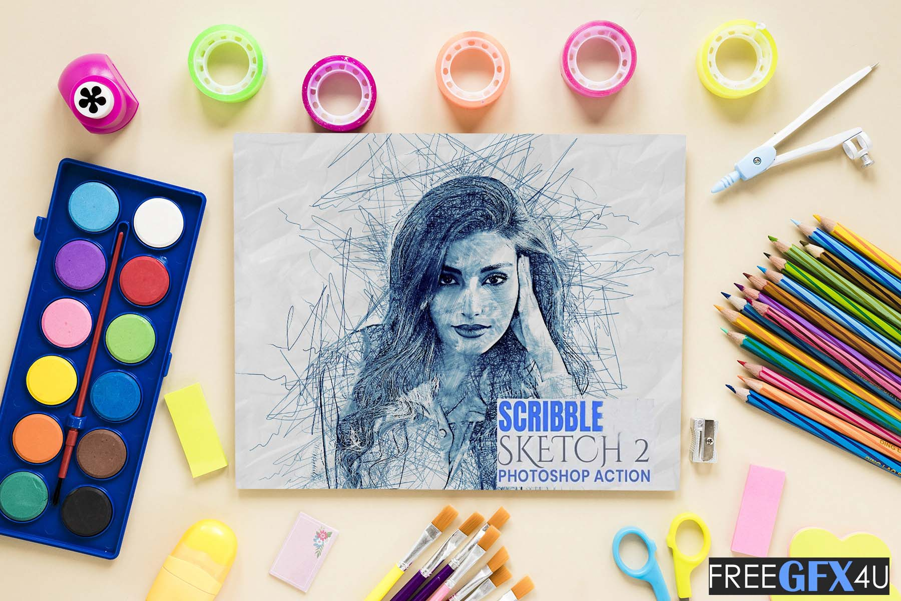 Scribble Sketch Photoshop Action