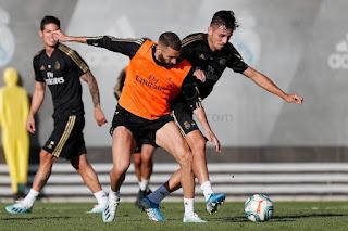 Nuevo entrenamiento bajo minimos en la Ciudad Real Madrid.