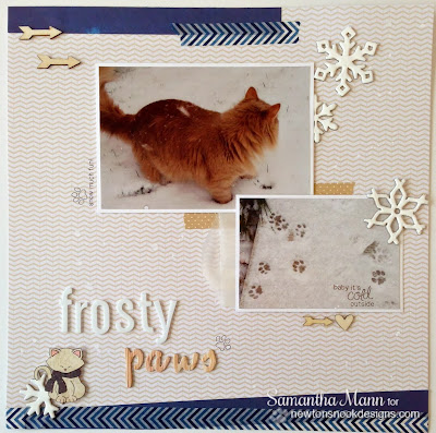 Frosty Paws Scrapbook Page by Samantha Mann for Newton's Nook Designs