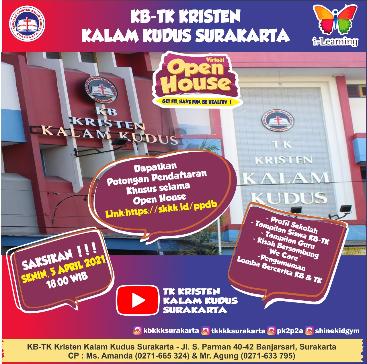 Virtual Open House KB-TK Kristen Kalam Kudus Surakarta - 05 April 2021