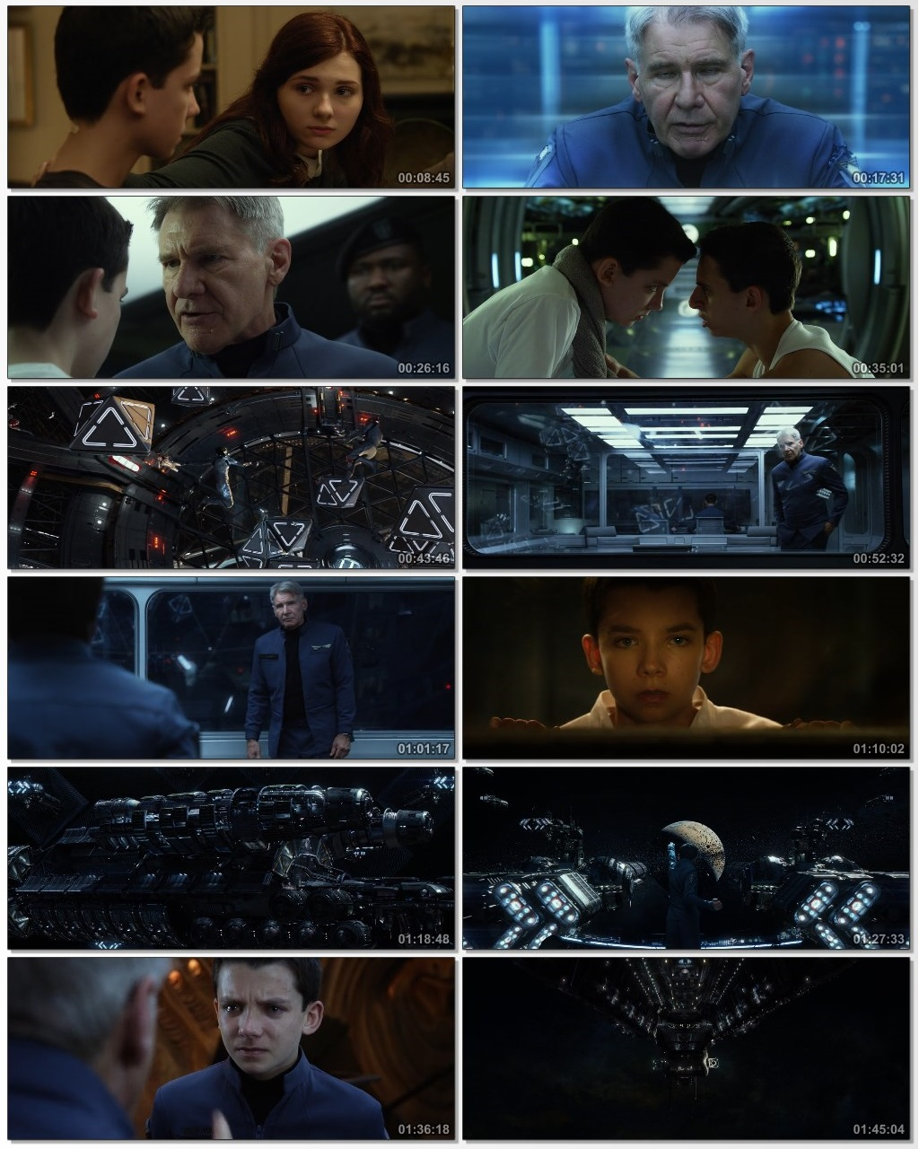 Screen Shot Of Ender's Game 2013 300MB Full Movie Hindi Dubbed Free Download 480P BRRip Small Size PC Movie
