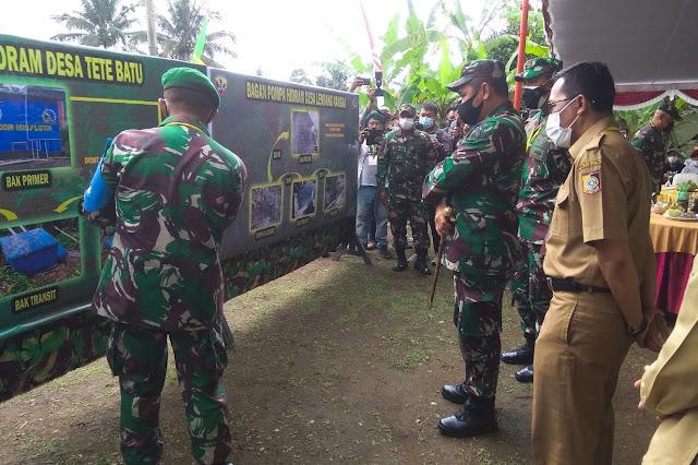Pangdam Udayana resmikan Pompa Hidram di Desa Tetebatu