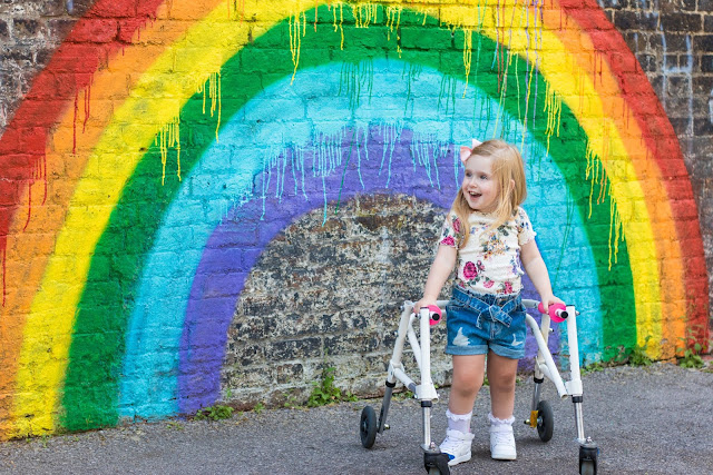 Toddler with Spina Bifida Does 'Rainbow Walk' for the NHS