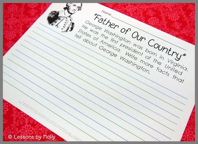 Get your students excited about learning fun facts about United States presidents!  These free printables are perfect for President's Day.  There is a presidents' birthday graph, a presidents' names alliteration activity, and a presidents anagram puzzle to solve.  There's also a George Washington writing activity that can be used if you are incorporating videos or books about the United States presidents in your classroom.  Happy President's Day!