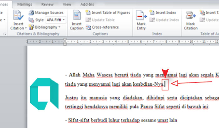 Cara Membuat Footnote MS Word 2010 Beserta Cara Penulisan nya