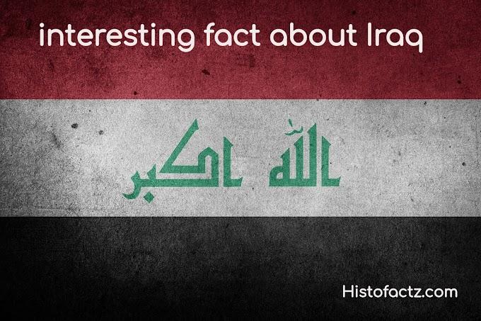 Interesting fact about Iraq