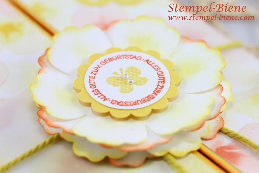 60. Geburtstag, Stampin Up Farbenwunder, Stanze Blume, Osterglocke, Ein Gruß für alle Fälle, stampin up, Stempel-biene Recklinghausen, Stampin up demonstrator