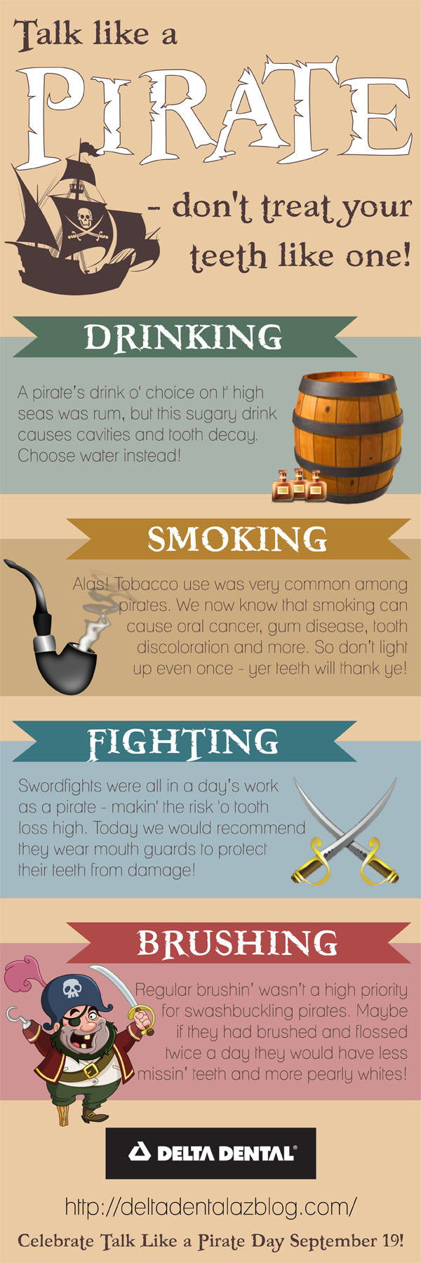 International Talk Like a Pirate Day #infographic