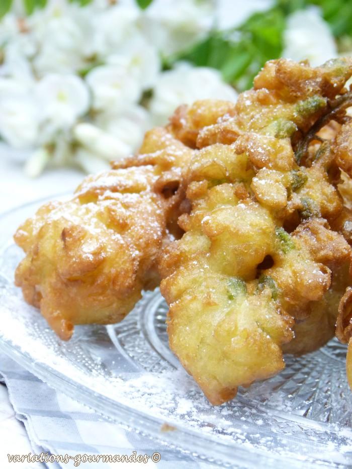 variations gourmandes: beignets de fleurs d'acacias