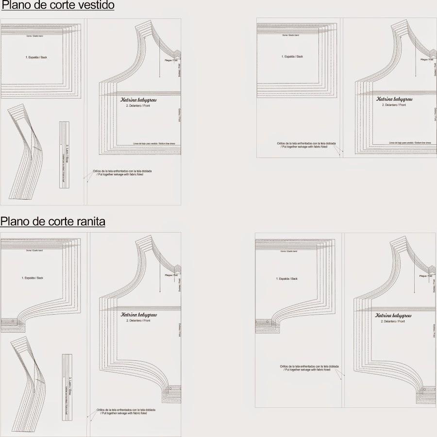 Plano de corte que sirve para cortar correctamente la tela