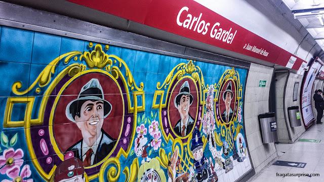 Metrô de Buenos Aires, Estação Carlos Gardel, em Abasto