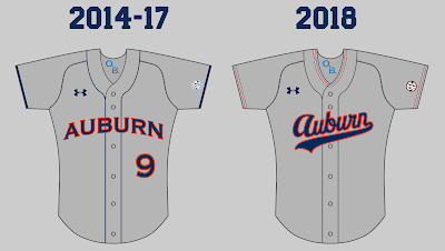 auburn baseball 2018 uniform new jersey