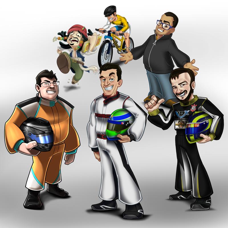 Mascotes para empresa e caricaturas para presentear.