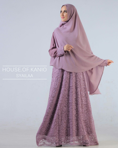 model baju long dress brokat