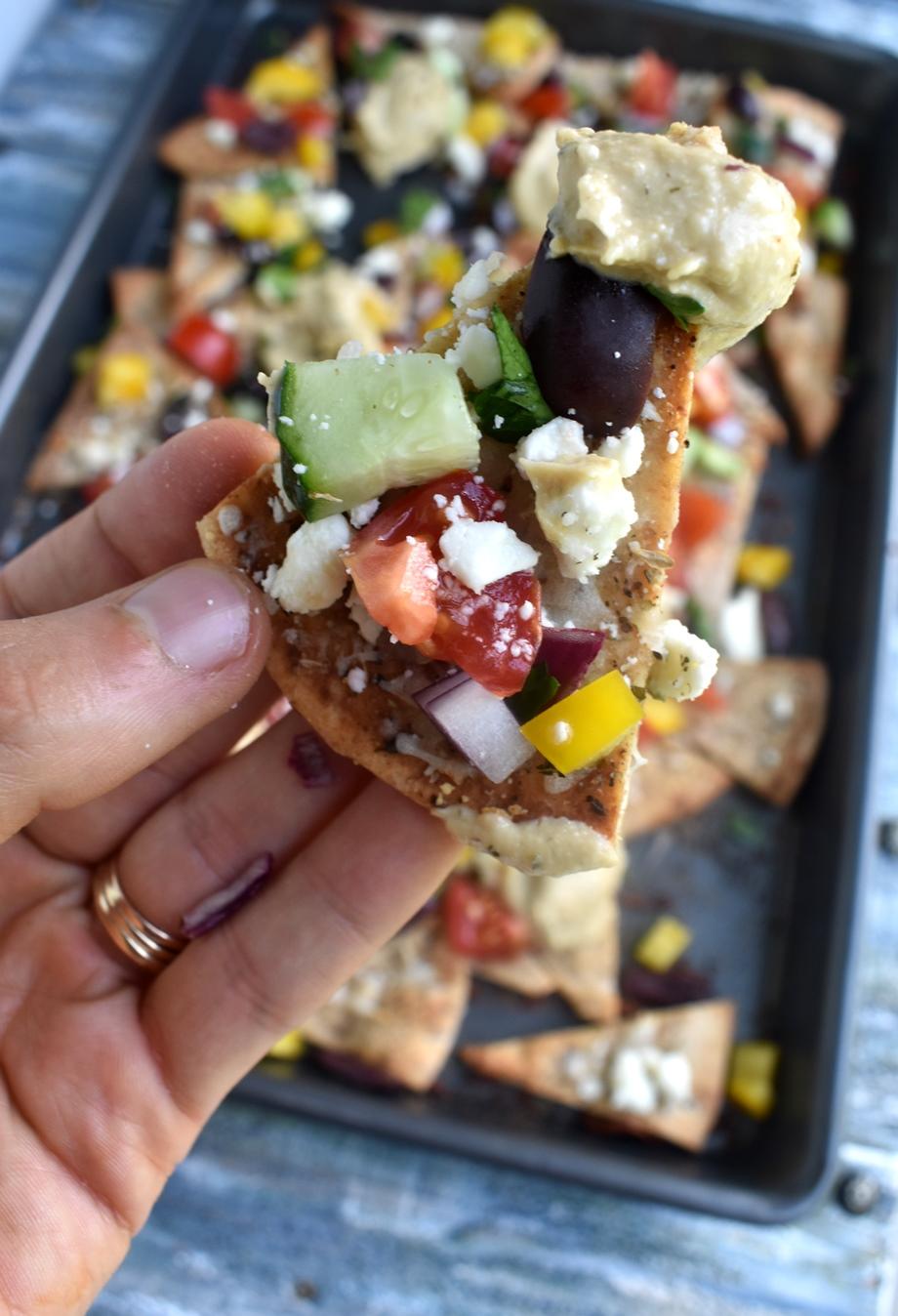 Loaded Greek nacho