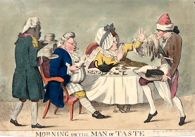 Morning or the Man of Taste by T Rowlandson (1802-11) after H W Bunbury
