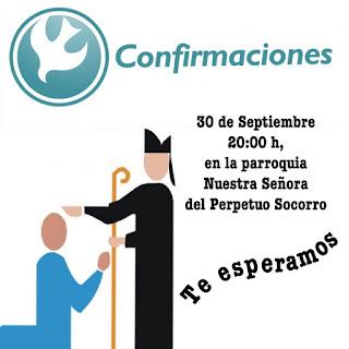 Confirmaciones el 30 de Septiembre