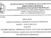 Juknis Pengisian Blangko Ijazah 2019 SD SMP SMA SMK