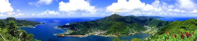 A panorama of the American Samoa