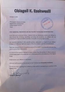 My Letter To IG On #EndSARS