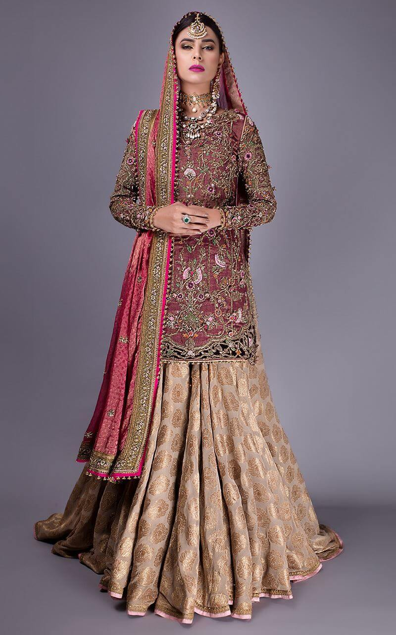 Chiffon Bridal Lehenga by Fahad Hussayn