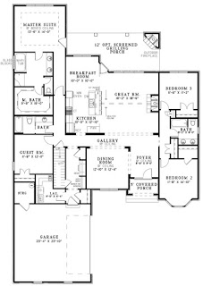 Large spaced open concept house plans and ideas