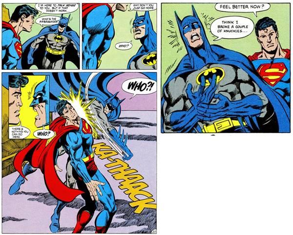 Batman vs Superman en los años 90