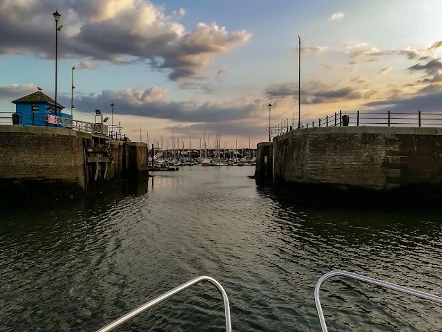 Photo of Ravensdale heading back into Maryport Marina