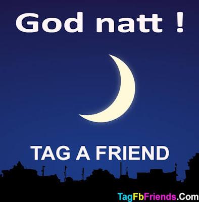 Good Night in Swedish language