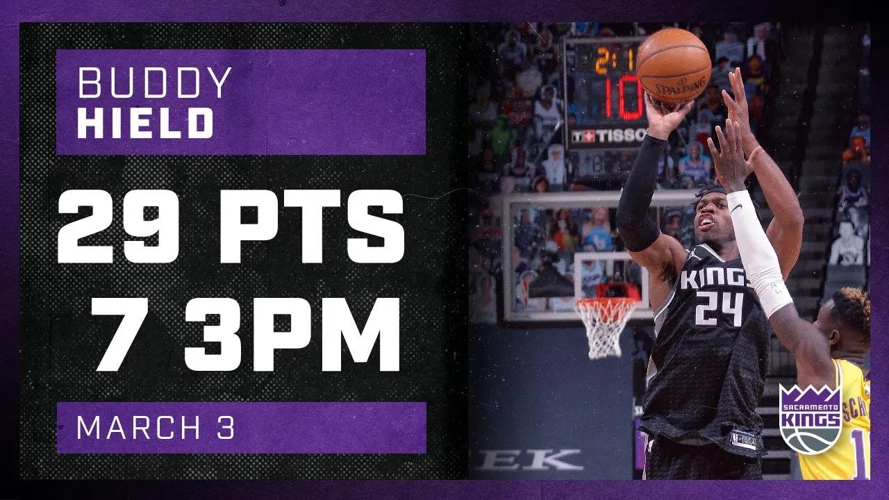 Buddy Hield 29pts 6reb 6ast vs LAL   March 3, 2021   2020-21 NBA Season