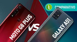 SAMSUNG A51 VS MOTO G8 PLUS: