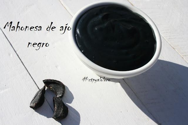 Mahonesa de ajo negro