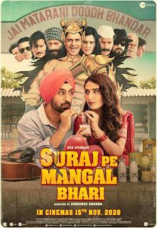 Download Suraj Pe Mangal Bhari (2020) Hindi Movie 720p 905MB HDRip