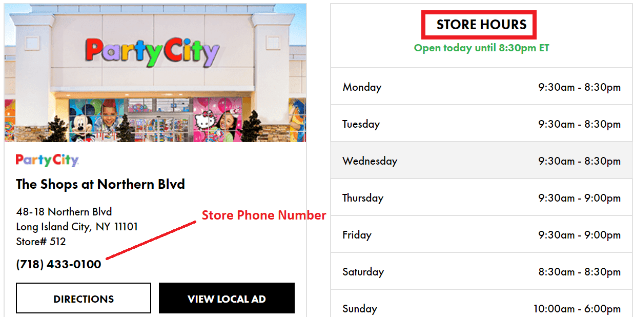 What Are Party City Hours Of Operations Customercares4u