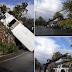 Camión accidentado transportaba valijas de Nagua y la provincia perdió el control y se estrelló en Samaná.